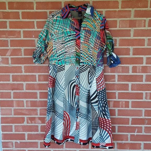 Desigual Dresses & Skirts - Desigual retro 70s fit and flare dress size 42 / L